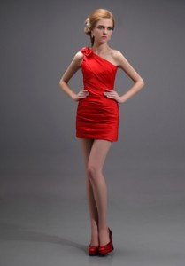 short red valentines dress