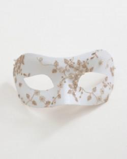 Bridal Gold & White Blossom Venetian Wedding Masquerade Mask c