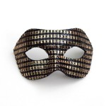 Men's Designer Black & Gold Venetian Masquerade Mask