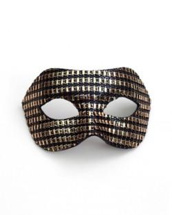 Men's Designer Black & Gold Venetian Masquerade Mask