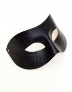Mens Patterned Half Black Leather Venetian Fashion Masquerade Mask b