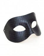 Mens Unique Gautier Black Patterned Leather Venetian Masquerade Mask