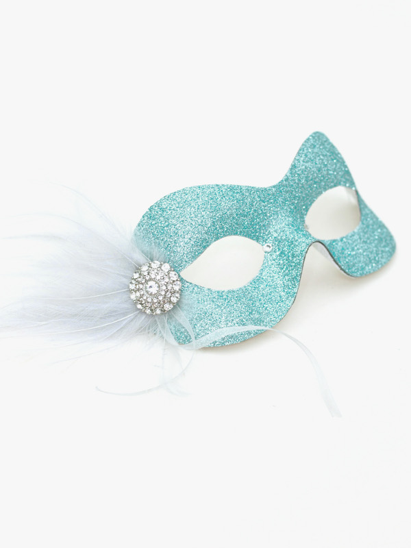 Ice Blue Masquerade Prom Mask