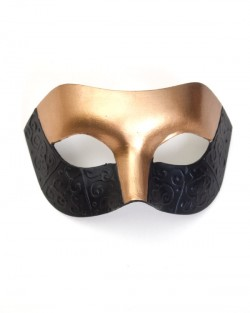 Men's Unique Gold & Black Detailed Venetian Masquerade Mask