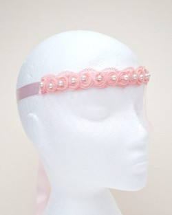 Women's Pale Pink Pearl Rose Lace Face Veil Masquerade Mask b