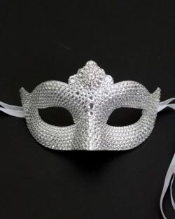 Petite Swarovski Crystal Venetian Masquerade Mask b