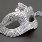 Swarovski Embellished Crystal Masked Ball Masquerade Mask
