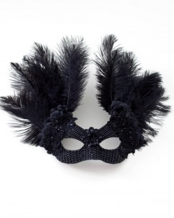 unique raven black swarovski crystal bird masquerade mask