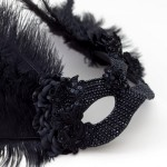 unique raven black swarovski crystal bird masquerade mask