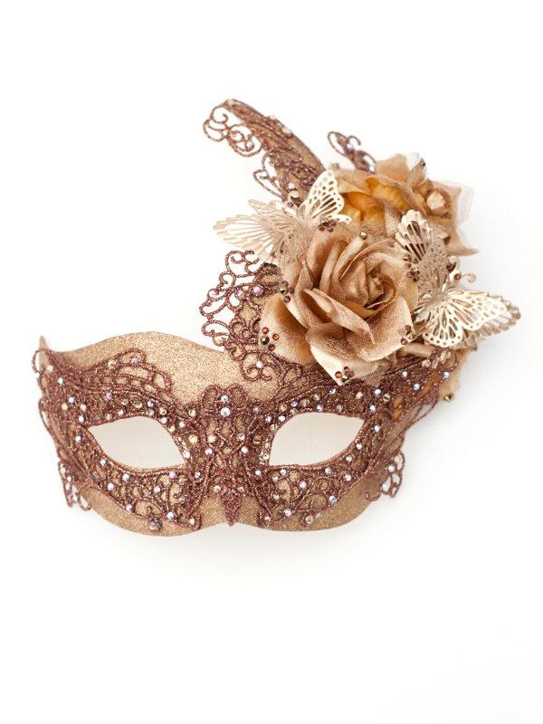 Unique Bronze Butterfly Amp Floral Venetian Mask