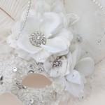 Unique Wedding Ivory White Light Up Venetian Masquerade Mask j