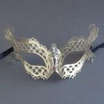 Gold Metal Filigree Katherine Masquerade Mask