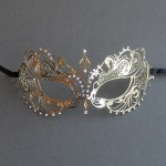 Gold Sophie Metal Filigree Lace Masquerade Mask