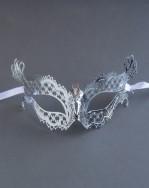 Silver Metal Filigree Katherine Masquerade Mask