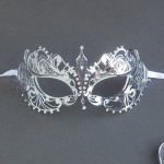 Silver Sophie Metal Filigree Lace Masquerade Mask