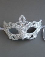 Unique Silver & Swarovski Crystal Baroque Mask 1