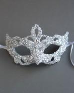 Unique Silver & Swarovski Crystal Baroque Mask 1