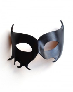 Womens Black Leather Diavola Mask