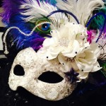 90. Mardi Gras themed Wedding Masquerade Mask