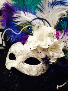 90. Mardi Gras themed Wedding Masquerade Mask