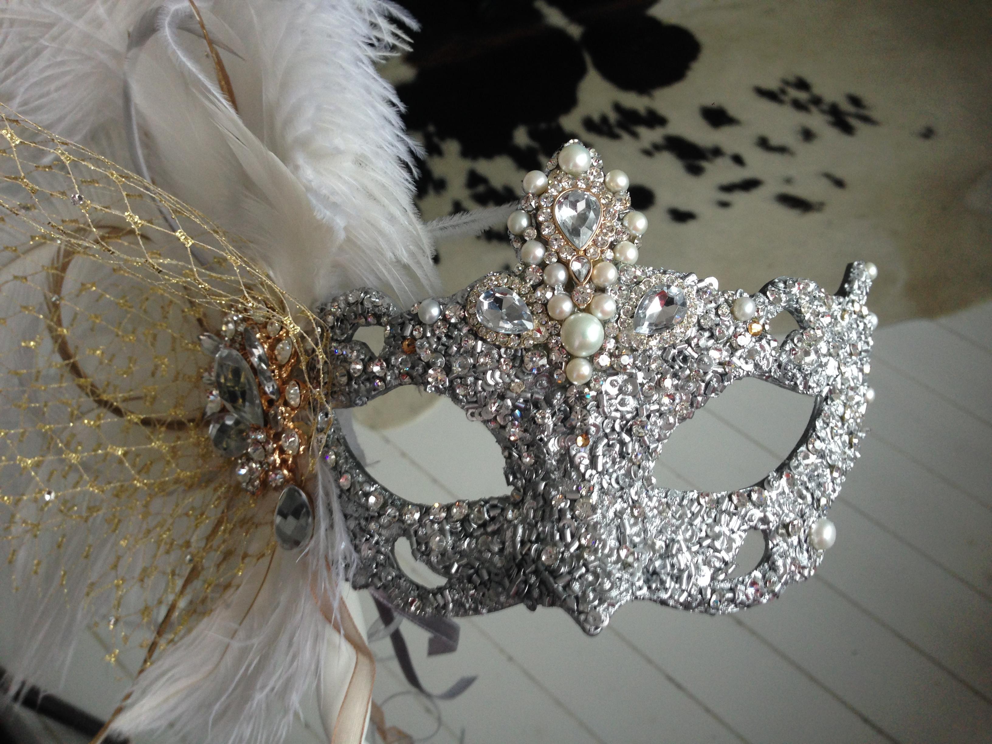 finished mask Cherie 003 - Masque Boutique Masquerade Masks
