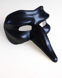 Capitano Black Long Nose Mask