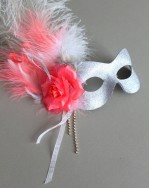 womens-metallic-coral-silver-mask