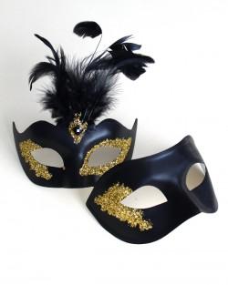 Couple's Black & Gold Vanity Masks