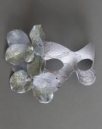 Metallic Fleur Silver Gold Masquerade Mask b