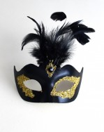 Women's Black & Gold Vanity Mask b