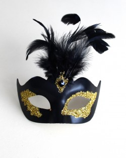 Women's Black & Gold Vanity Mask b