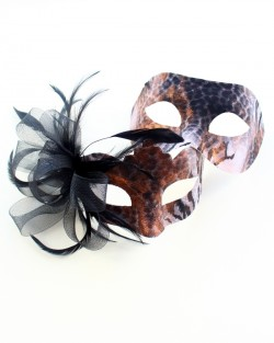 couples animal print masquerade ball masks