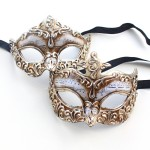 couples silver genoa venetian masks