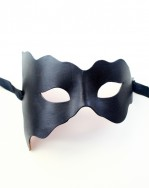womens designer fashion leather wave mask