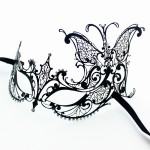 Black Metal Filigree Butterfly Side Mask b