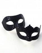 Couple's Matching Black Mirror Venetian Masquerade Masks