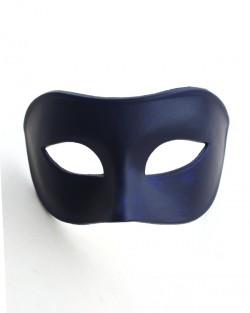 Men's Plain Navy Cobalt Blue Venetian Masquerade Mask