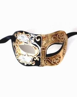 Barcelona Black & Gold Masquerade Mask