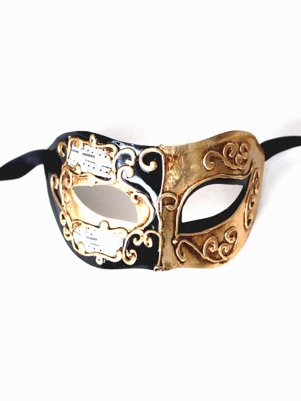 Barcelona Black & Gold Masquerade Mask