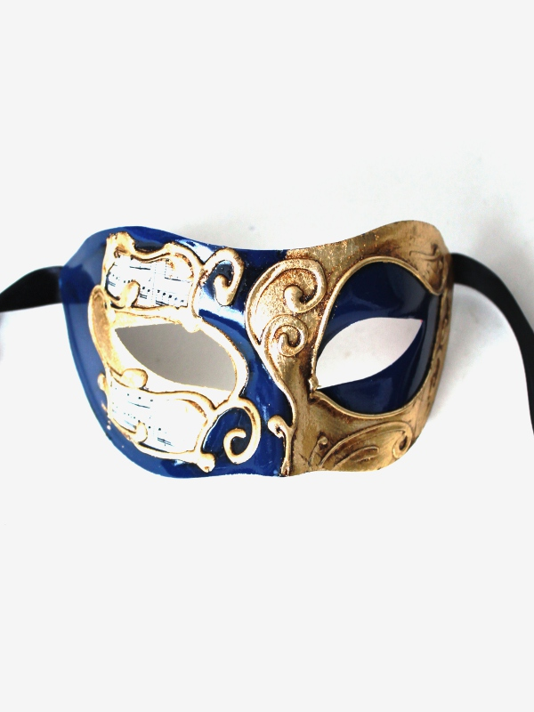 Barcelona Navy Blue & Gold Masquerade Mask