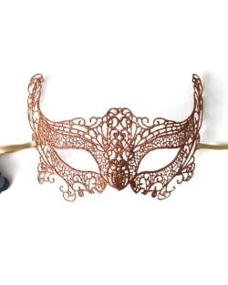Bronze Fox Lace Mask