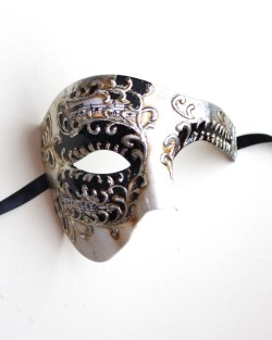 Cameo Black & Silver Large Phantom of the Opera Mask