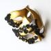 Couples Matching Black & Gold Lace Venetian Masks b