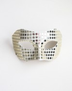 Mens Pale Gold Mirror Masquerade Mask