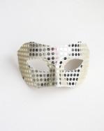 Mens Pale Gold Mirror Masquerade Mask