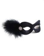 Party Girl Black Diamante Masquerade Eye Mask