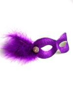 Party Girl Cadburys Purple & Gold Diamante Masquerade Eye Mask