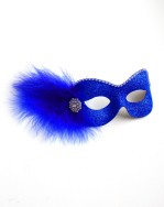Party Girl Royal Blue Diamante Masquerade Eye Mask