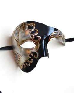 Sanctus Black & Silver Large Phantom of the Opera Mask