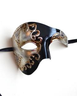 Sanctus Black & Silver Large Phantom of the Opera Mask